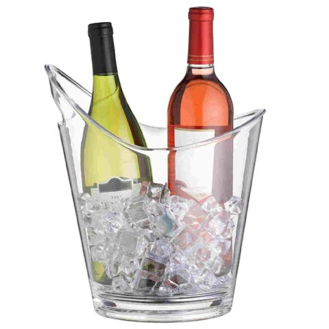BarCraft Clear Acrylic Plastic Wine Champagne Bucket